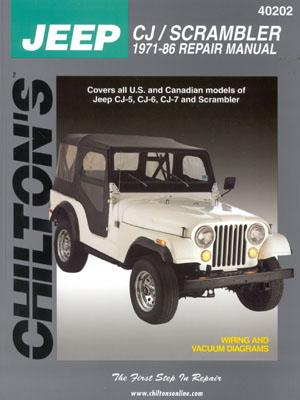 Chilton's Jeep Cj/Scrambler 1971-86 Repair Manual By Freeman, Kerry A. (EDT)